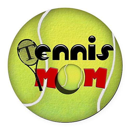 CafePress - Tennis Mom Round Car Magnet - Round Car Magnet, Magnetic Bumper Sticker