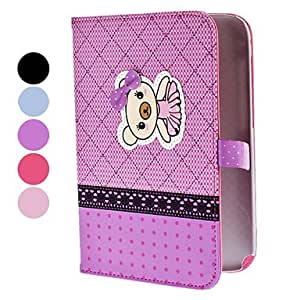 DUR Bear in Skirt Pattern Full Body PU Leather Protective Case with Stand for Samsung Galaxy Note 8.0 N5100 (Assorted Colors) , Purple