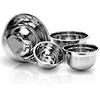 Imperial Home 4 Pcs Stainless Steel Mixing Bowls Set