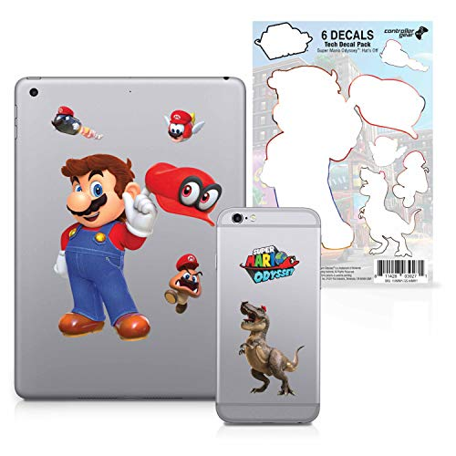 Controller Gear Super Mario Odyssey – Character Tech Decal Pack – Hats Off – Nintendo Wii; GameCube