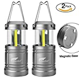 Tools & Hardware : 2 Pack Camping Lantern, Hausbell Ultra Bright Magnetic Base Portable Collapsible Outdoor LED Lantern Lights - Survival Kit for Emergency, Hurricane, Storm, Power Outage