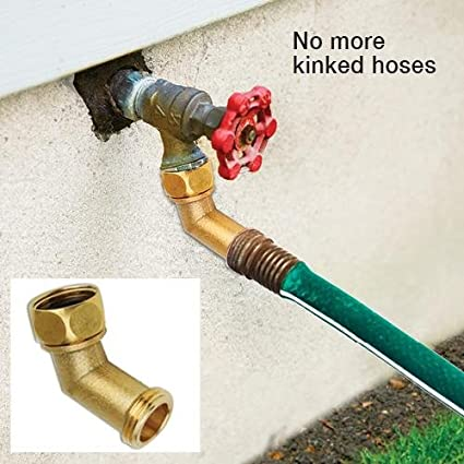 Amazon.com : Angled Brass Hose Elbow Attachment : Garden & Outdoor