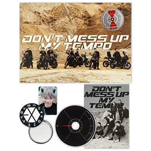 EXO 5th Album - Don't Mess Up My Tempo [ MODERATO ver. ] CD + Booklet + Photocard + FOLDED POSTER + FREE GIFT / K-pop Sealed