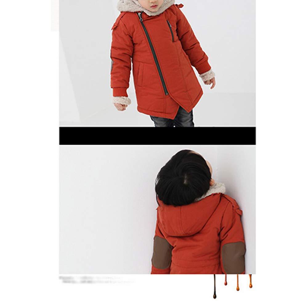 Winter Warm Diagonal Zipper Hoodie Coat Outerwear DAZISEN Boys Coat