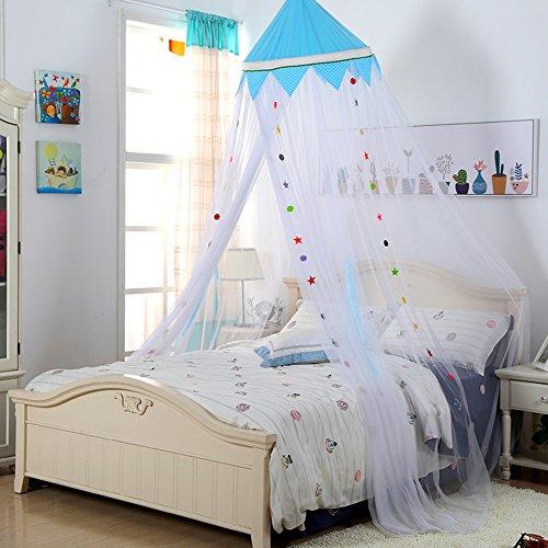 Filet de moustique Chambre plafond Type Princesse Pour Enfants colorée, Dôme Sol Rideau de moustiques bébé lit baldaquin -B Queen1