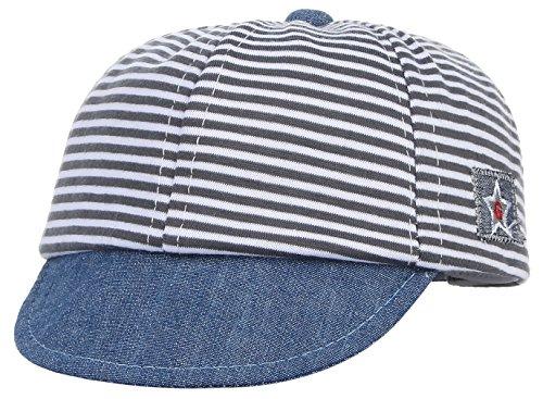 dbe0cbb1987 Gemvie Baby Infant Boys Girls Striped Peaked Hat Baseball Beret Cap Black