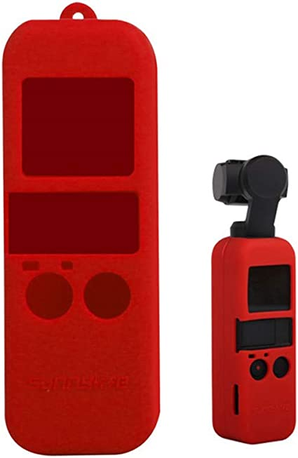 Color : Black Red Non-Slip Dust-Proof Cover Silicone Sleeve for DJI OSMO Pocket Durable