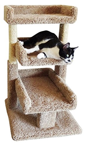 New Cat Condos Brown Large Kitty Cat Tree Perch by New Cat Condos