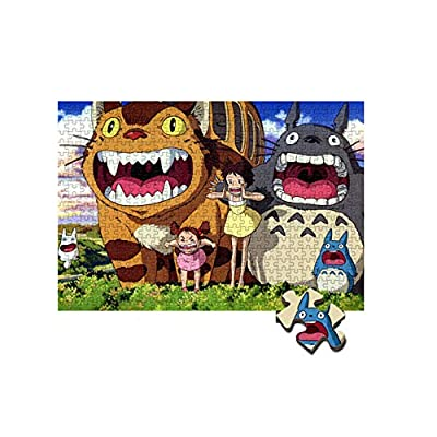 JUNG KOOK Cartoon Totoro Puzzles Wooden 300 500 1000 Piece Jigsaw Puzzle Adult Kids: Sports & Outdoors