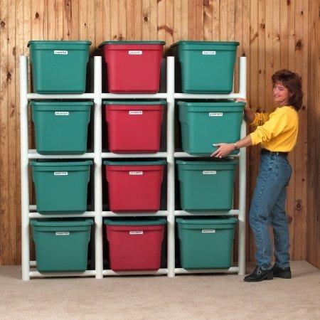 Bin Warehouse DFAE2MBW0431 Storage System for 12-Totes by Bin Warehouse Storage Systems