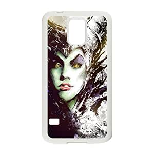 MeowStore Cool Maleficent Sexy Face Painting Samsung Galaxy S5 Case Cover Phone Case Shells White