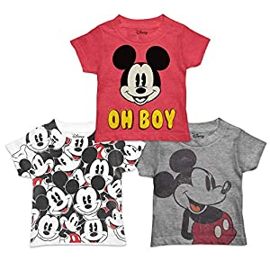 Disney Boys' Toddler Mickey Mouse 3-Pack T-Shirts