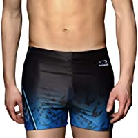 PHINIKISS Men Jammer Quick Dry Swimsuit Athletic Swimwear for Swimming Surfing