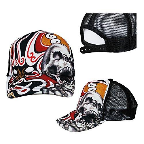RDS-Revolution Designer Brainchild Adjustable Mesh Cap Trucker Hat Custom Retro Design Artwork - Chinese Opera