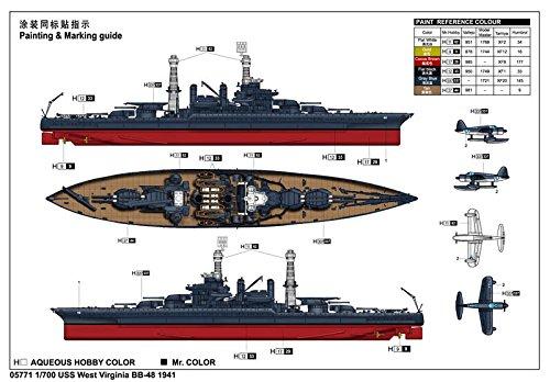 トランペッター 1/700 米国海軍 コロラド級戦艦 BB-48 ウェスト・ヴァージニア 1941【並行輸入品】