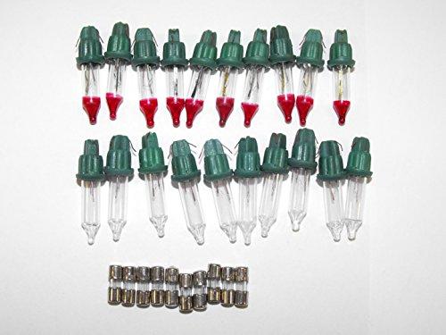 10x Mini Bulb Flashers, 10x 3 amp Fuses, 10x Clear Regular Bulbs Christmas Tree Lights Replacement Bulbs By JLMissouri Parts Base Style A -