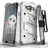 Samsung Galaxy Amp 2 Case, Zizo [Bolt Series] w/ FREE [Galaxy Amp 2 Screen Protector] Kickstand [Military Grade DropTested] Holster Clip- Galaxy Amp 2