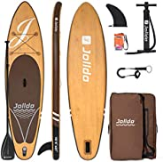 """jolldo Inflatable Stand Up Paddle Board 10'6'×31""""×6"""" Ultra Light SUP Non-Slip Deck w Paddle,"""