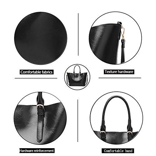 Shoulder Bag Bag Shopping Fashion Crossbody Bag Capacity New Women's Large Tisdaini Bag Tote Black Handbags qx8fOWwp