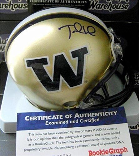 Autograph Warehouse 345218 Jake Locker Signed Mini Helmet - Washington Huskies College Football PSA DNA Authentication Certified