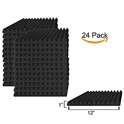 24 Pack Acoustic Panels Studio Foam Wedges 1\