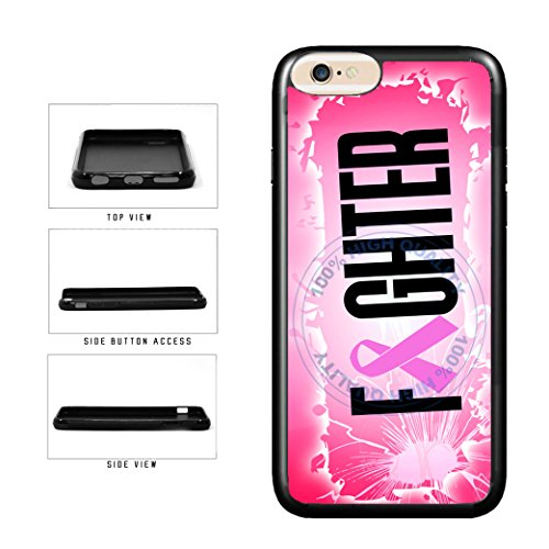 - BleuReign(TM) Fighter With Pink Ribbon TPU RUBBER SILICONE Phone Case Back Cover For Apple iPhone 8 Plus and iPhone 7 Plus