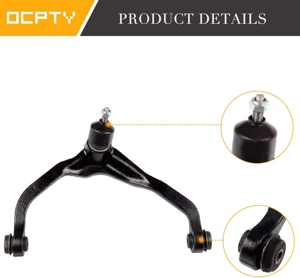 New 4-Piece fit for Dodge Nitro for Jeep Liberty-2 Front Upper Left Right Control Arm and Ball Joint/2 Lower Ball Joints OCPTY