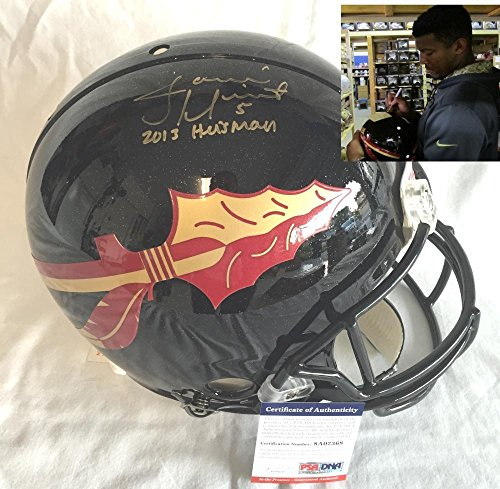 Pro Line Authentic Football Helmet - Jameis Winston Signed Autographed Black Florida State Seminoles Full Size Authentic Proline Football Helmet - PSADNA Certified