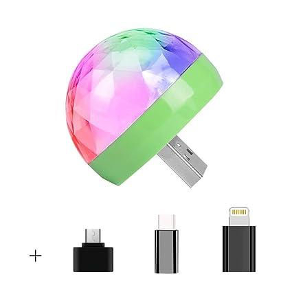 LED discoteca lámpara de escenario mini proyector RGB luz de bola ...