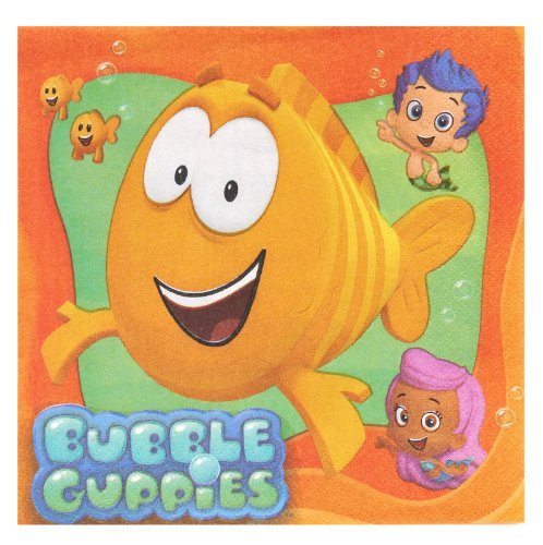 Bubble Guppies Luncheon Napkins (16 Pack)