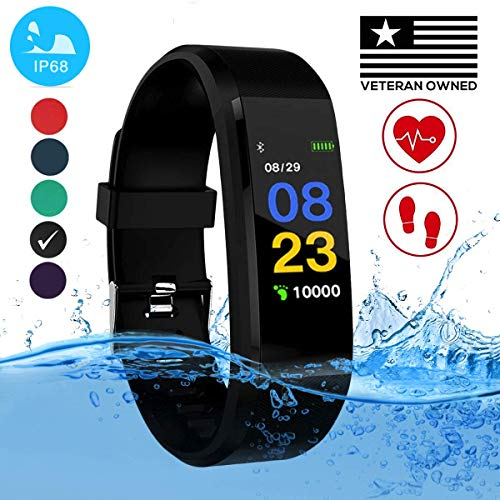 Burn-Rate Fitness Tracker, Heart Rate Monitor - Smart Watches for Women & Men, Color Smart Watch Bracelet. Reloj Inteligente Pedometer, Distance Activity for Android & iPhones iOS