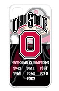 The Ohio State University NCAA Ohio State Buckeyes Hard Shell Case Cover iPhone 4 4S TPU Case Skin protector with Fashion Style
