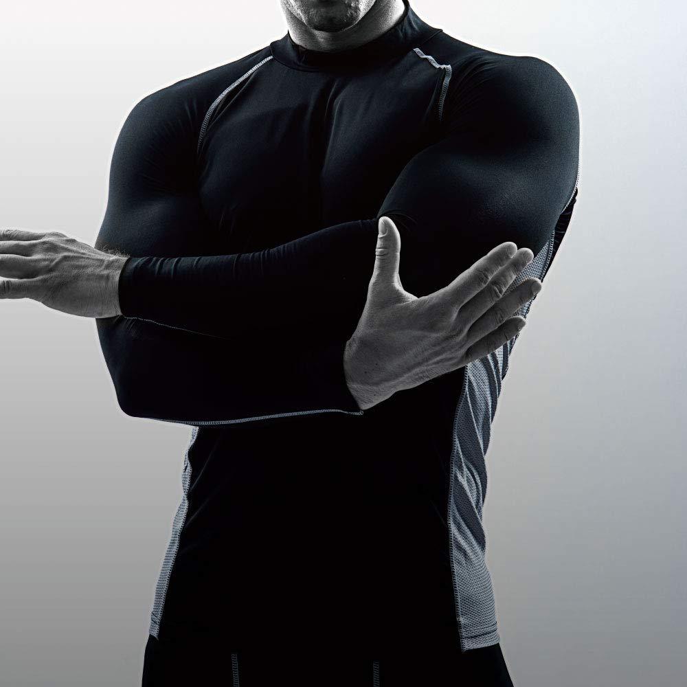 おたふく手袋 ボディタフネス 冷感・消臭 パワーストレッチ 長袖 ハイネックシャツ メンズ JW-625 ホワイト L