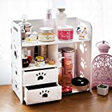 Bizzoelife DIY Cosmetic Storage Box Desktop Waterproof Household Organizer with Drawers for Dresser Countertop