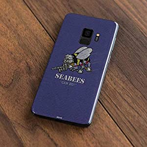 Skinit Seabees Can Do Galaxy S9 Skin - Officially Licensed US Navy Phone Decal - Ultra Thin, Lightweight Vinyl Decal Protection from Skinit