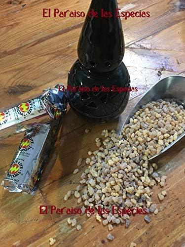 20 Pastillas de Carb/ón Lit/úrgico /& 50 grs de Incienso Lagrimas Incensario Negro Entero Conjunto formado por Incensario con Forma de Nazareno Esmaltado Negro