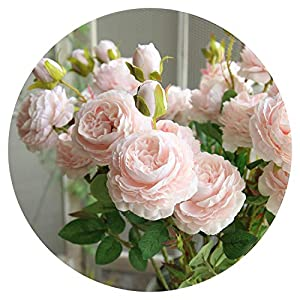 Artificial Flowers Artificial Fake Western Rose Flower Peony Bridal Bouquet Wedding Home Decor Decor Home & Living 45