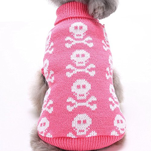 (YZBear Dog Costume Puppy Skull Clothes Winter Sweater for Small Medium Large)