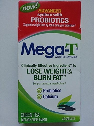 Mega-T Lose Weight & Overcook Fat, contains over 8 superfoods Antioxidant blend, 30 caplets
