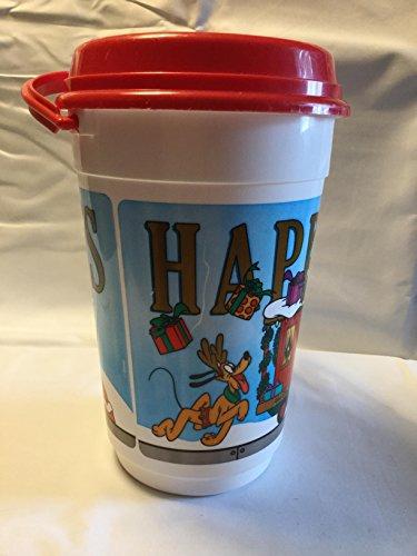 Disney Parks Happy Holidays Popcorn Souvenir Bucket, 2005 Disney Christmas Bucket