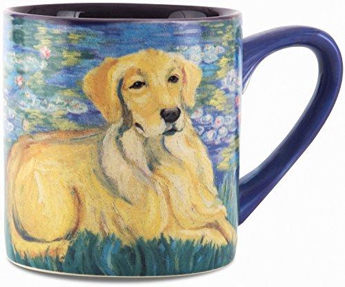 Paw Palettes Golden Retriever Bonet Ceramic Mug, 16-Ounce