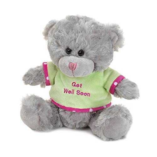 Koehler 10016048 8.25 Inch Gray Get Well Soon Plush Bear