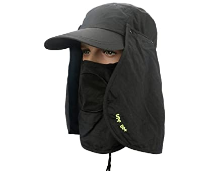 Ace Select Anti-UV UPF 50+ Ultralight Breathable Flap Hat Neck Protection  Cap w Removable Sun Shield   Mask for Outdoor Fishing Hiking Garden Work -  Ideal ... 9674669aed1