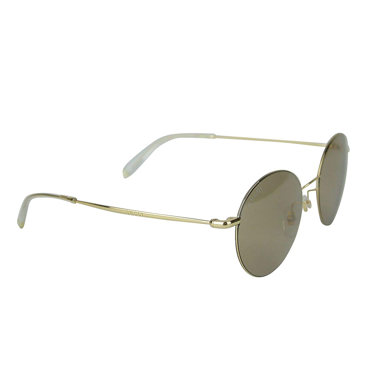 7480530ff39 Amazon.com  Gucci Unisex Round Gold Metal Sunglasses With Logo GG 4273 S  3YGMI 391327 8903  Clothing