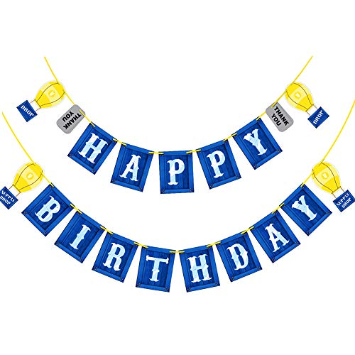 Gaming Happy Birthday Party Banner With Blue Personalized Birthday Flags Banner For Birthday Party Supplies Decoration