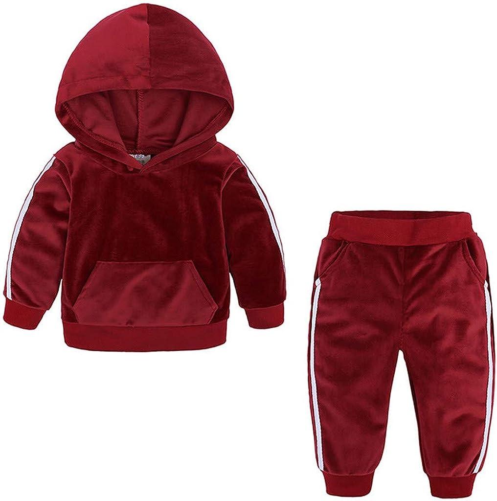 Hosen Outfits Set Kleidung Kobay Kleinkind Kinder Baby M/ädchen Jungen Langarm Solide Tops