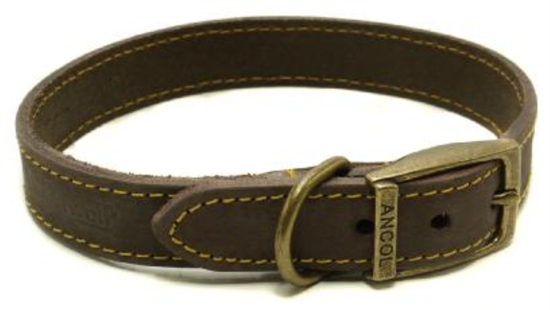 Timberwolf Leather Collar Sable 28-36cm Size 3