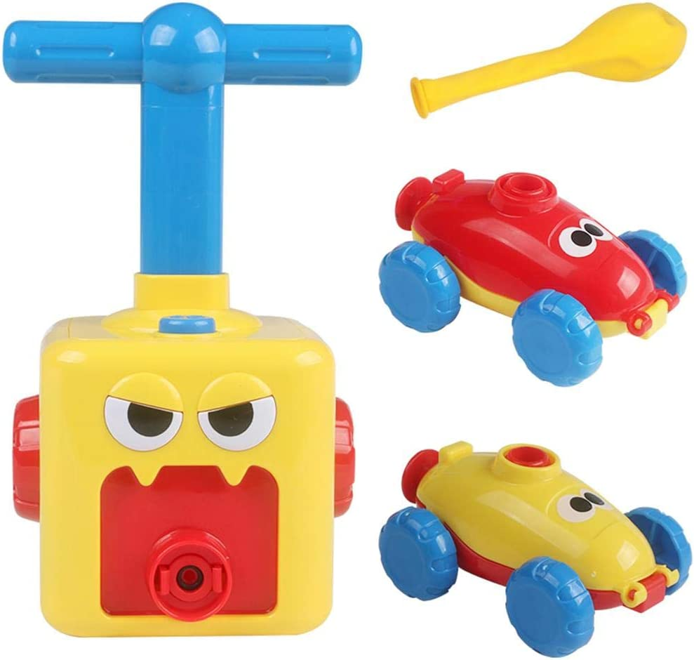 Morningtime Balloon Car Toy Kids Jouet /éducatif Bricolage Inertial Power Car for Toddlers Children Early Education