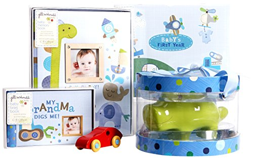 C.R. Gibson New Mom and Baby Shower Gift Assortment, Boy Oh Boy