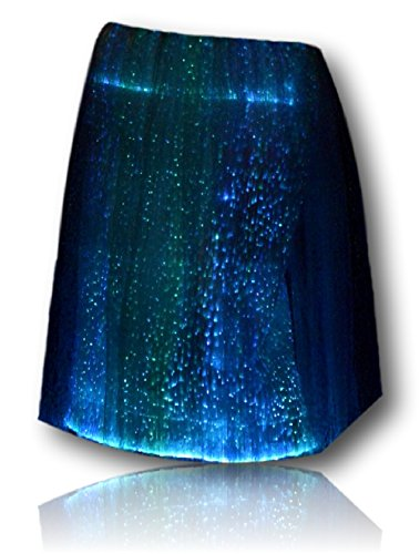 TrYptiX Womens Fiber Optic Light up Skirt X-large by TrYptiX